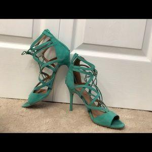 JustFab turquoise heels 8.5